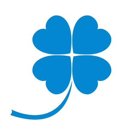Stylized icon of a colored clover leave on a white background Illustration
