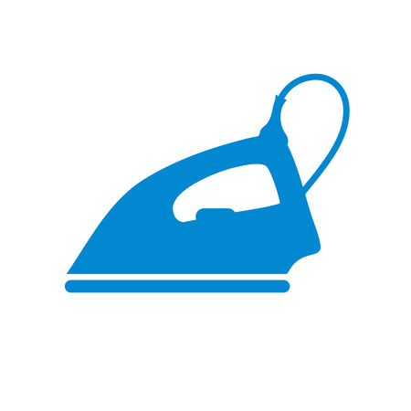 Stylized icon of a colored iron on a white background