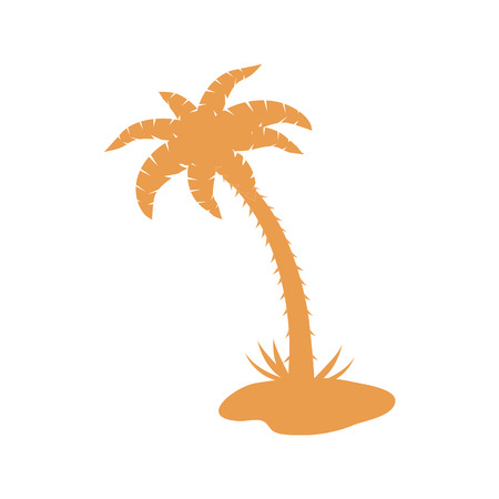 coco: Stylized icon of palm tree