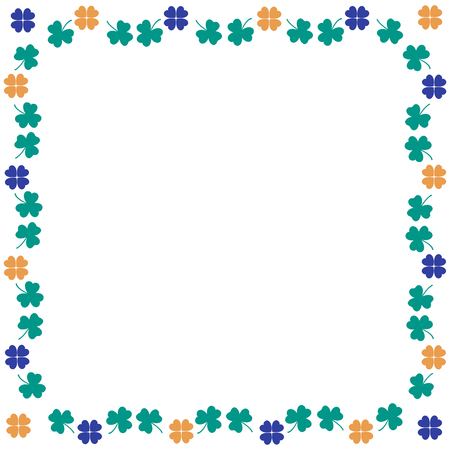 various: Nice picture-frame from various pieces of clover
