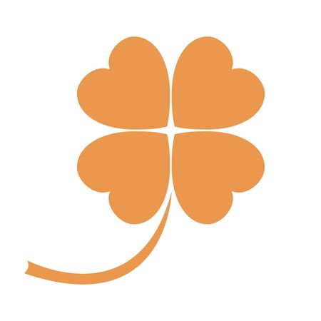 petiole: Stylized icon of a colored clover leave on a white background Illustration