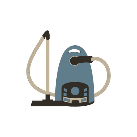 carpet clean: Stylized icon of a colored vacuum cleaner on a white background