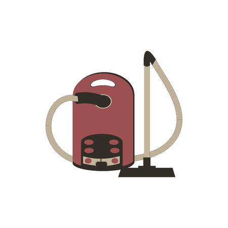 Stylized icon of a colored vacuum cleaner on a white background