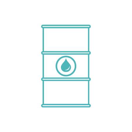 natural gas prices: Stylized icon of the barrel of oil on a white background