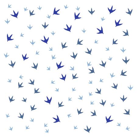 vogelspuren: Sch�nes Bild von Spuren von V�geln auf einem wei�en Hintergrund