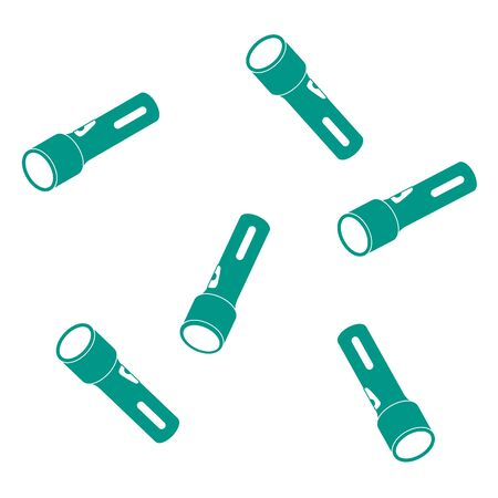 Nice picture of a colored flashlights on a white background Illustration