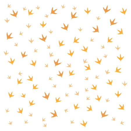 dingbats: Nice picture of  traces of birds on a white background