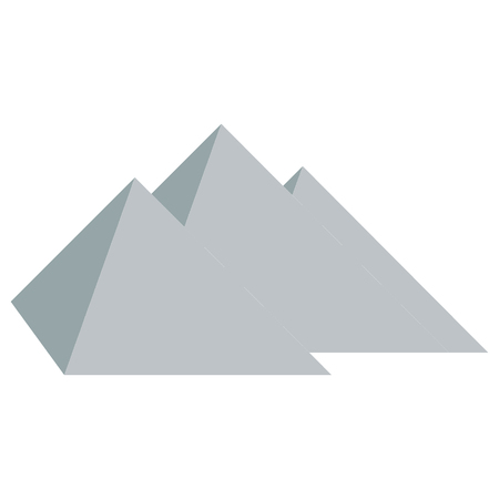 cheops: Stylized icon three pyramids of Egypt on white background