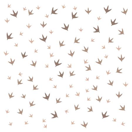 vogelspuren: Schönes Bild von Spuren von Vögeln auf einem weißen Hintergrund