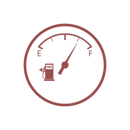 sensor: Stylized icon of the automobile fuel sensor on a white background