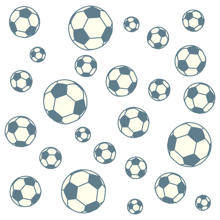 school kit: Nice picture of colorful football balls on a color background
