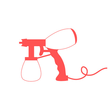 Stylized icon of a colored airbrush on a white background