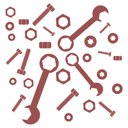 Nice picture of a colored tools on a white background