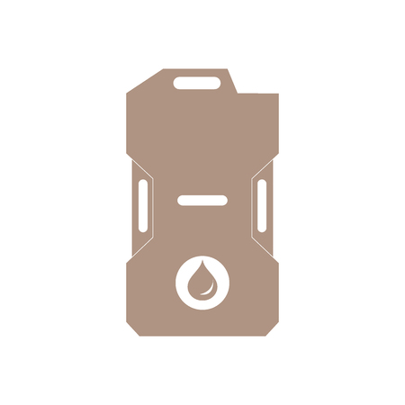 canister: Stylized icon of the canister of gasoline on a white background