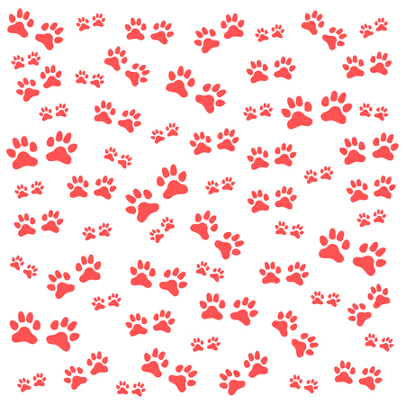 dingbats: Nice picture of wild animal traces on a white background