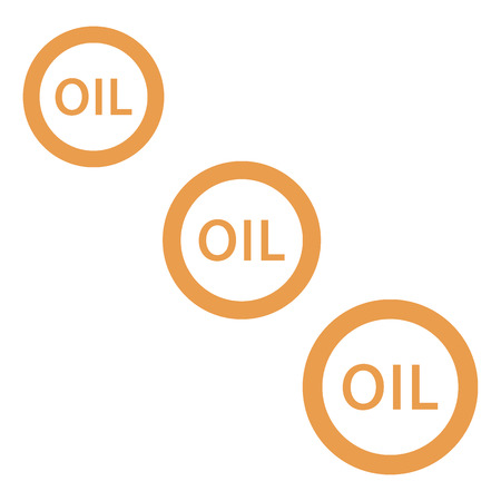 chemical spill: Stylized icon of the three inscription oil on a white background Illustration
