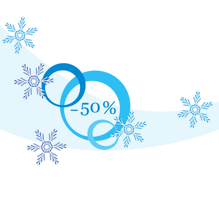 Vector  illustration of various discounts for markets and shops. Label for shop. Christmas sale.