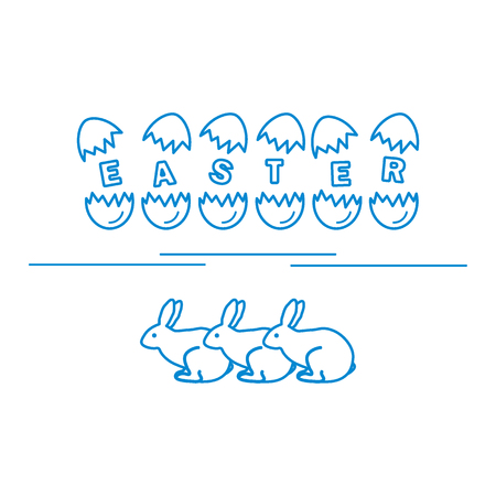 hull: Cute vector illustration with symbols for Easter. Design for banner, poster or print.