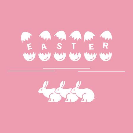 halved  half: Cute vector illustration with symbols for Easter. Design for banner, poster or print.