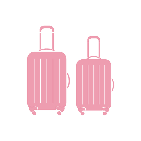 collect: Vector illustration of suitcases for travel. Summer time, vacation. Design for banner, poster or print.