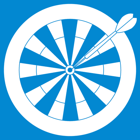 Cute vector illustration of target and arrow for the darts. Sports theme. Design for banner, poster or print. Illustration