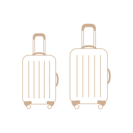 suitcase packing: Vector illustration of suitcases for travel. Summer time, vacation design for banner, poster or print. Illustration