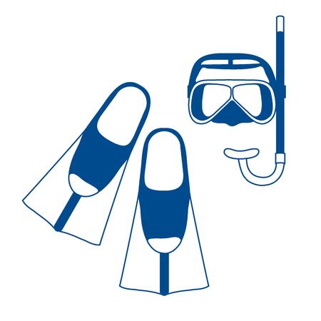 rubber tube: Stylized icon of scuba equipment
