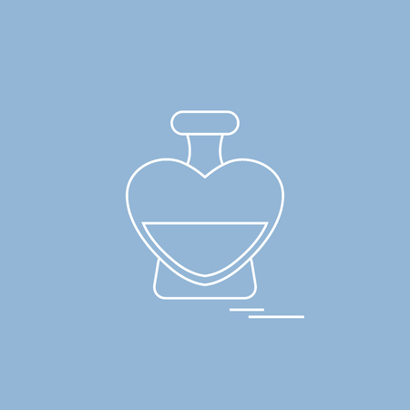 toilet: Cute vector illustration of a perfume bottle in the shape of heart Illustration