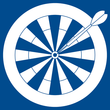 Cute illustration of target and arrow for the darts.
