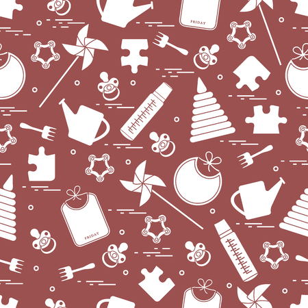neatness: Cute pattern with variety childs goods and toys.