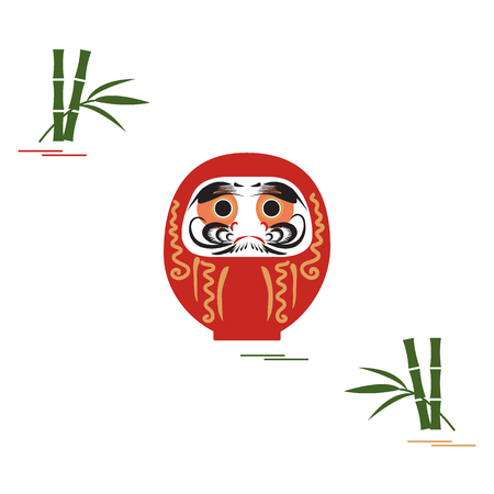 Daruma - Japanese traditional doll roly-poly.