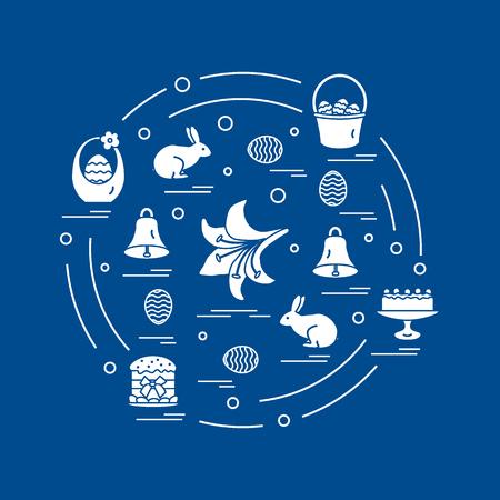Easter symbols pattern. Illustration