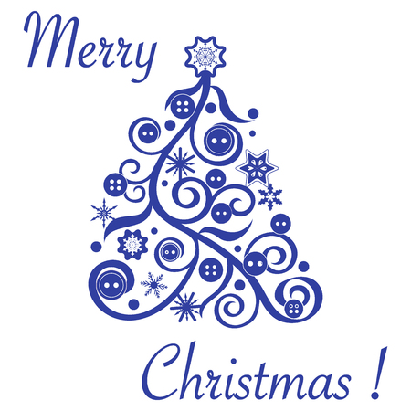 Merry Christmas banner. Banco de Imagens - 87902695