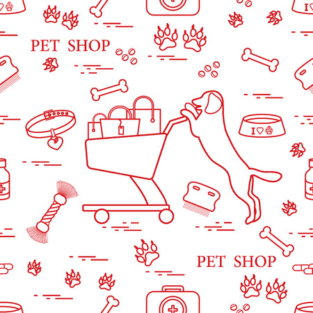 Pet shop symbols pattern.