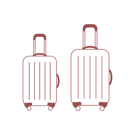 Vector illustration of suitcases for travel.