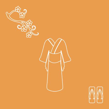 Set of Japan traditional design elements Illustration
