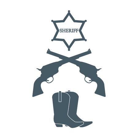 Illustration of sheriff star.