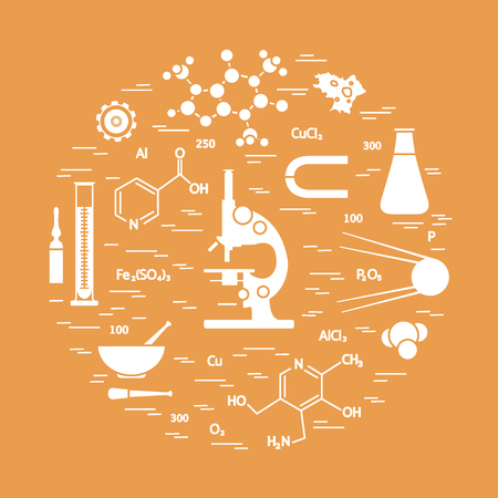 Icon of variety scientific elements Design for banner