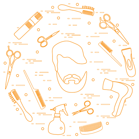 Illustration of barbershop symbols.