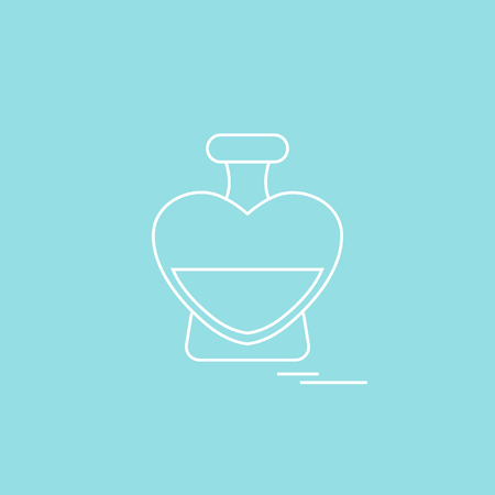 Cute illustration of perfume bottle in the shape of heart. Illustration
