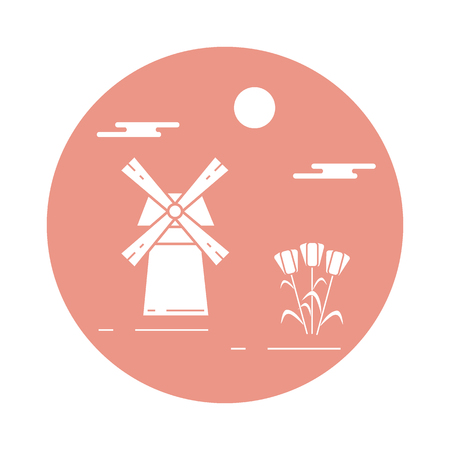 Illustration with symbols of Holland.