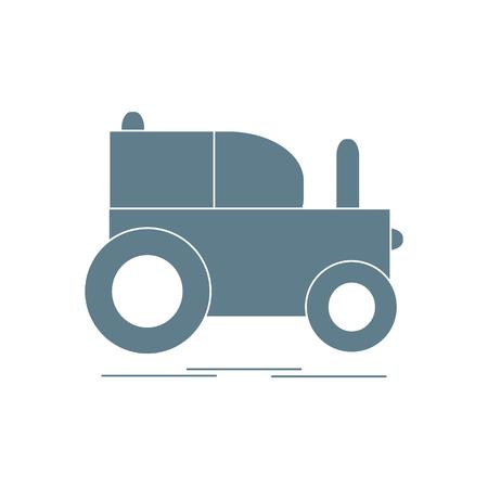 Children's toy tractor. Illustration