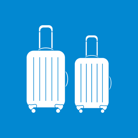 Illustration of suitcases for travel.