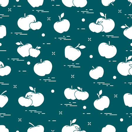 Apples juicy fruit. Seamless pattern. Design for announcement, advertisement, banner or print. 向量圖像