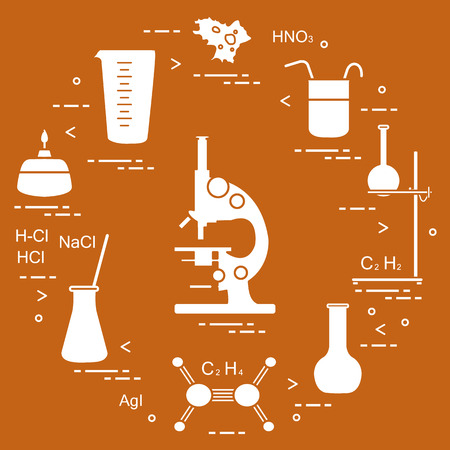 Chemistry scientific, education elements.