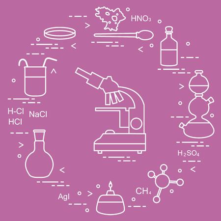 Chemistry scientific, education elements.