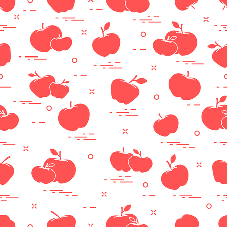 Apples juicy fruit seamless pattern. Design for announcement, advertisement, banner or print.