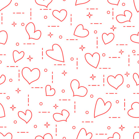 cute seamless pattern with hearts template for design fabric