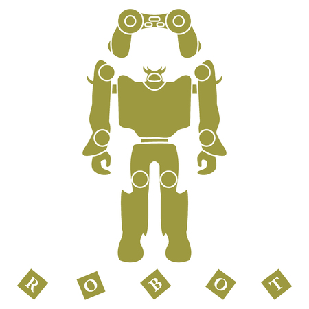 Robot toy vector illustration