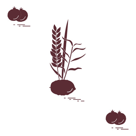 Pomegranate and Lulav vector illustration Illustration